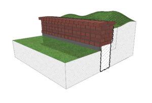Murki kwietne murowane mogą powstać z m.in. kamieni, bloków betonowych lub cegieł ceramicznych
